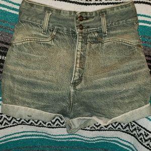 Vintage Express Denim HighRise Shorts